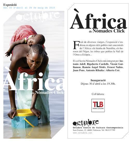 """Exposició """"Àfrica"""" de Nòmades Click a l'Octubre CCC"""