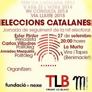 Nit de seguiment de les eleccions catalanes