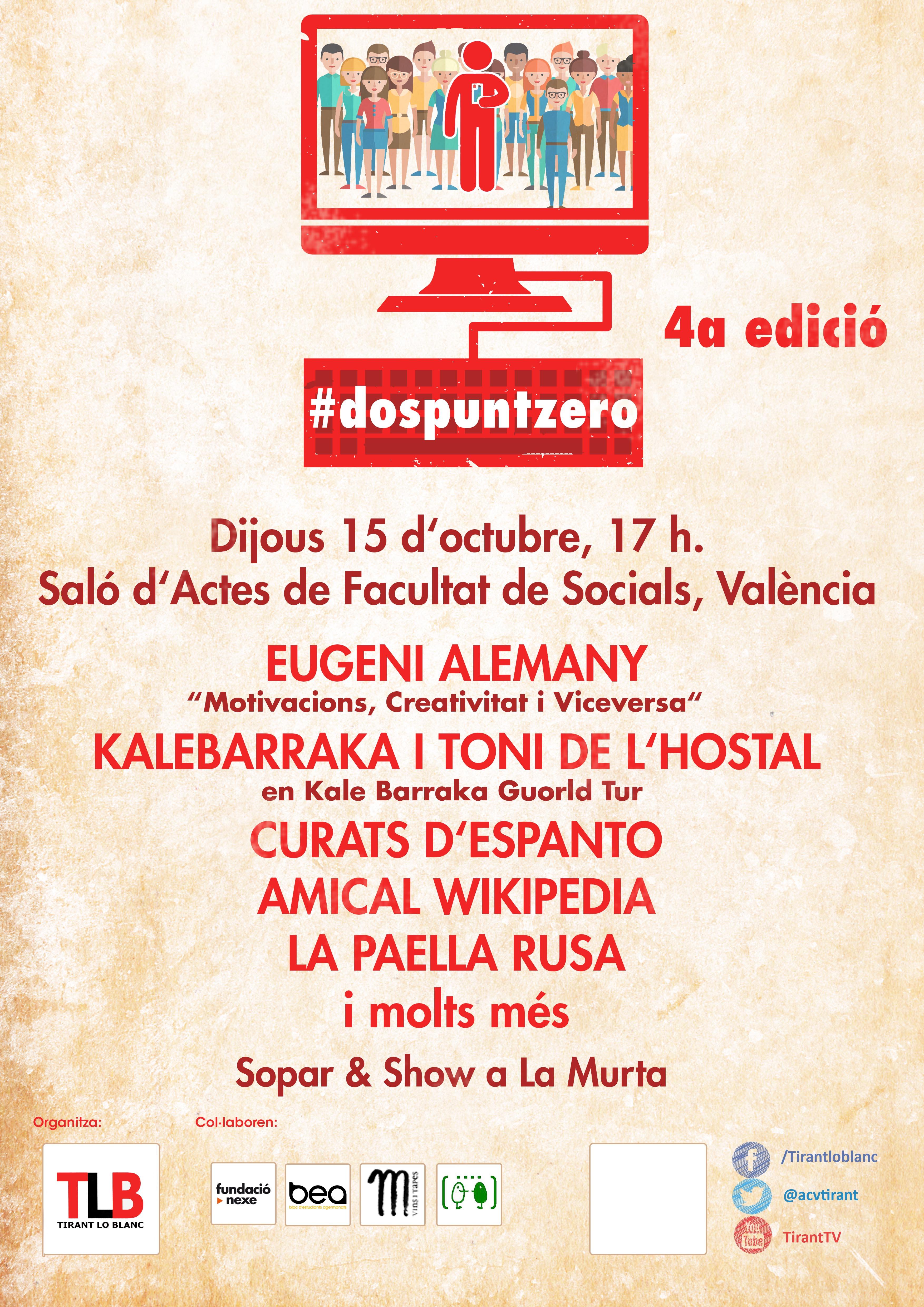 IV edició #dospuntzero – Filosofies Online