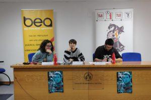 Berta Iñíguez i Mire Vives parlen de les dones al circuit de música valencià. Fotografia: Javier Cid,