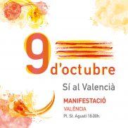 Comunicat de la Comissió 9 d'Octubre davant els fets de la diada del 9O a València
