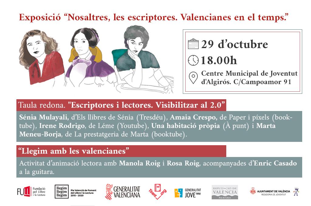 El Tirant organitza l'exposició 'Nosaltres, les escriptores' per reivindicar les autores valencianes