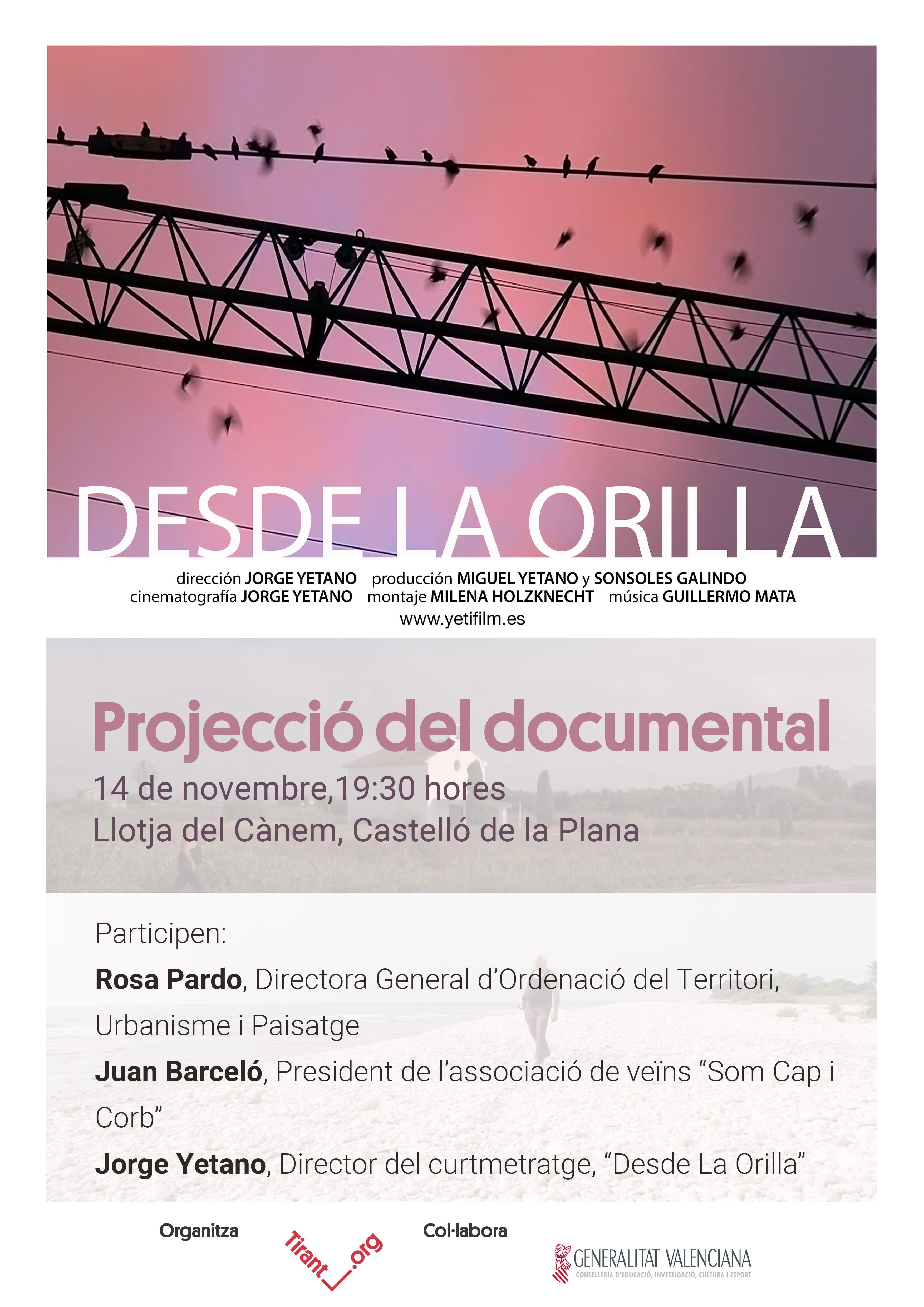 """Projecció del documental """"Desde la Orilla"""" a Castelló"""