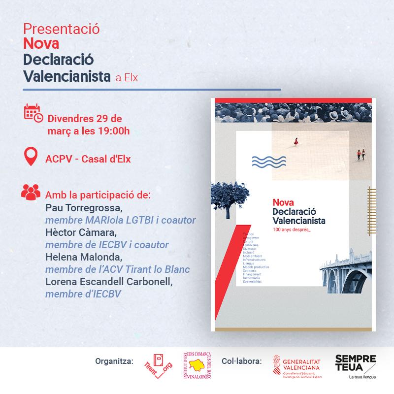 Presentació Nova Declaració Valencianista a Elx