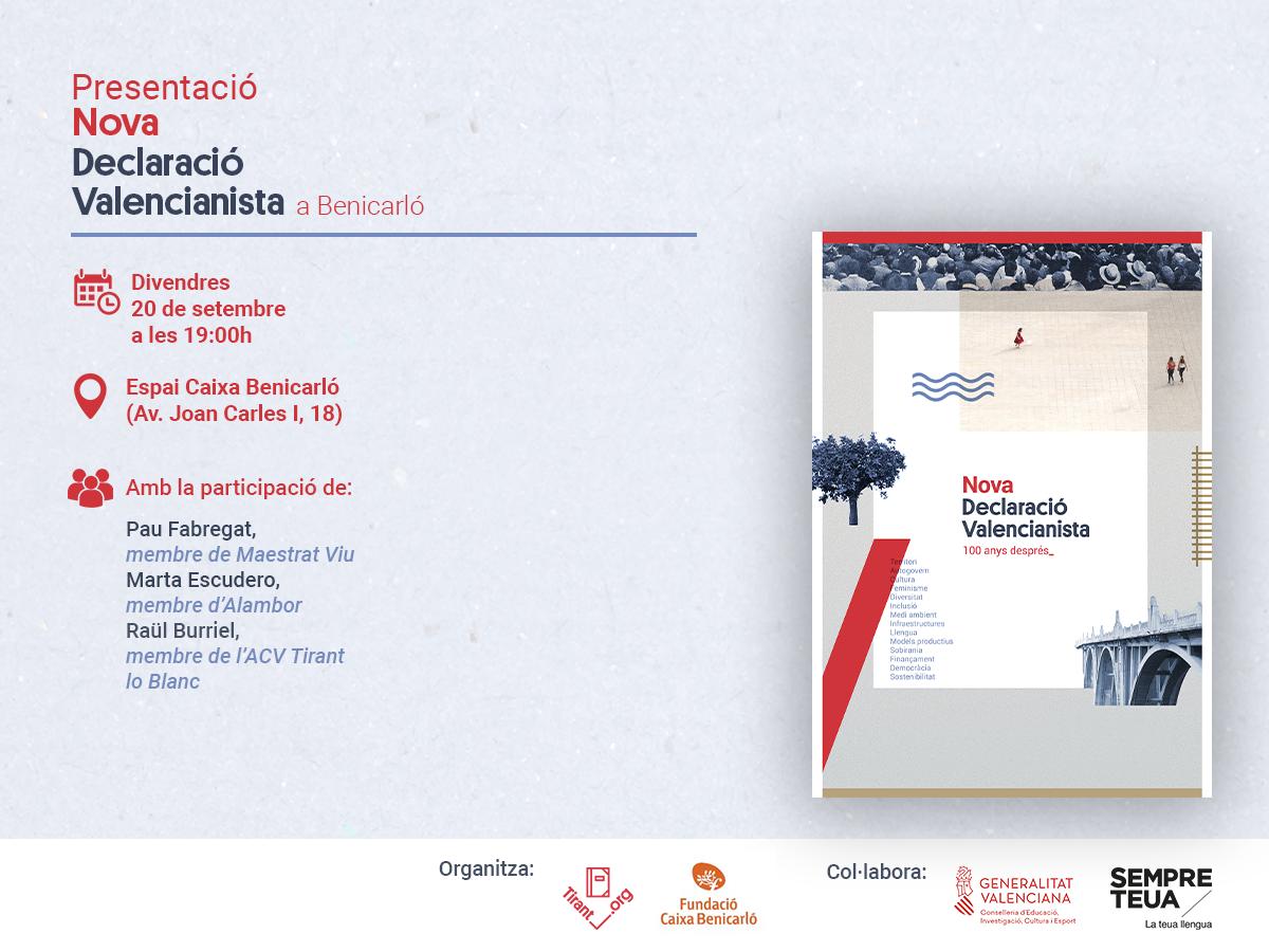 El Tirant presenta la Nova Declaració Valencianista a Benicarló